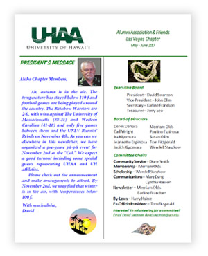 UHAAFLV July/August 2017 newsletter