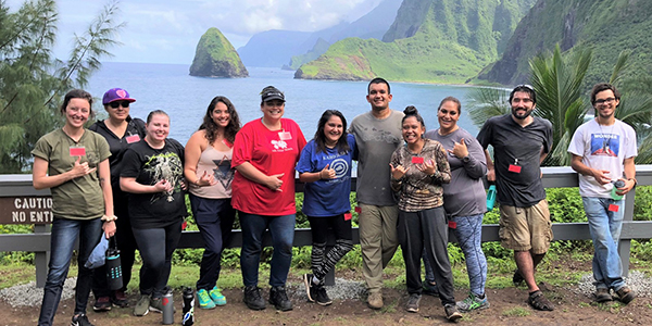 link to Working Together, Giving Service: UH Hilo Students Visit Kalaupapa