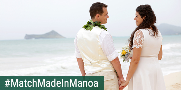 link to Match Made in Mānoa: PhD candidates marry at Waimānalo